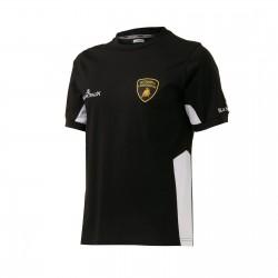 Tee-shirt LAMBORGHINI squadra corse BLANCPAIN noir
