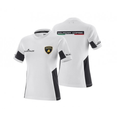 Tee-shirt LAMBORGHINI squadra corse BLANCPAIN blanc