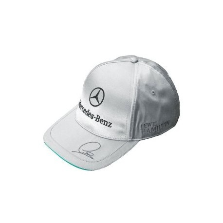 casquette mercedes amg petronas lewis hamilton grise r plica logo mercedes brod sur le devant. Black Bedroom Furniture Sets. Home Design Ideas
