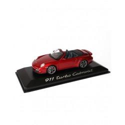 PORSCHE 911 turbo cabriolet rouge rubis
