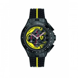 Montre FERRARI Race Day chrono noire jaune