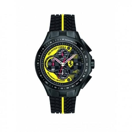 Montre FERRARI Race Day chrono noire jaune