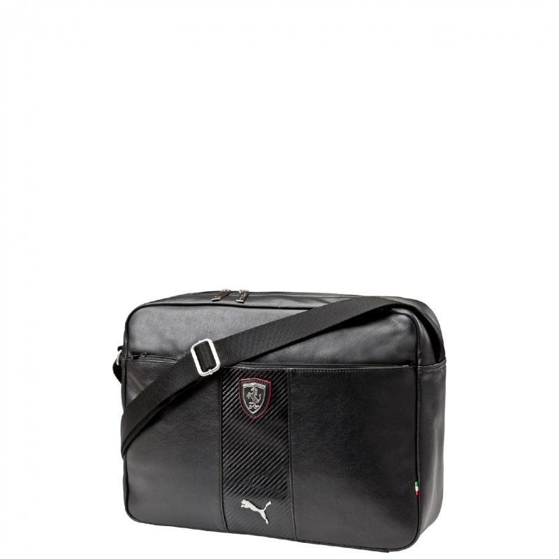 94167d6537 Sac FERRARI Puma reporter noir Une poche principale avec une double ...