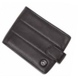 Portefeuille à l italienne MERCEDES cuir noir rayures
