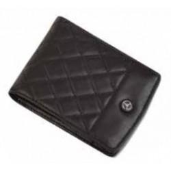 Porte-cartes/porte-monnaie a l italienne MERCEDES cuir noir diamants
