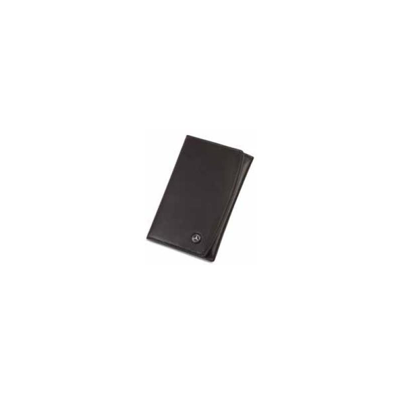 porte carte grise mercedes cuir noir lisse un compartiment pour ranger la carte grise quatre. Black Bedroom Furniture Sets. Home Design Ideas