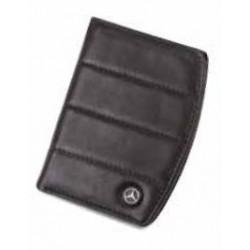 Portefeuille 2 volets MERCEDES cuir noir rayures taille S