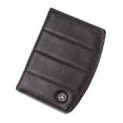 Portefeuille 3 volets MERCEDES cuir noir rayures