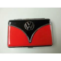 Porte-cartes VW combi noir et rouge