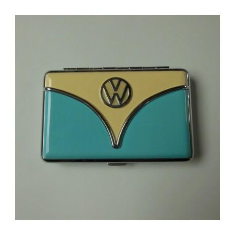 Porte-cartes VW combi beige et bleu ciel