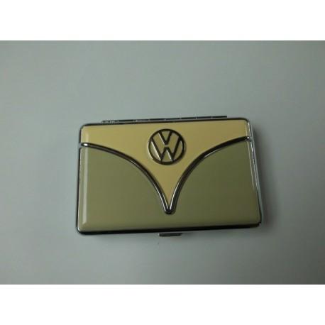 Porte-cartes VW combi beige et vert kaki