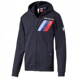 Sweat veste à capuche BMW Motorsport zippé bleu marine