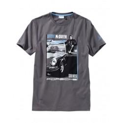 Tee-shirt PORSCHE Steve MCqueen gris
