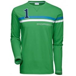 Tee-shirt PORSCHE performance manches longues vert
