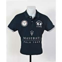 Polo Maserati La Martina bleu