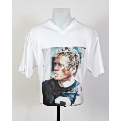 T-Shirt Steve Mc Queen taille L blanc