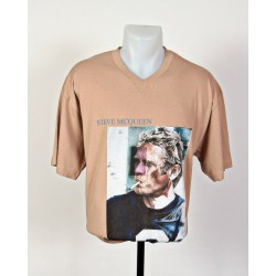 T-Shirt Steve Mc Queen taille L camel