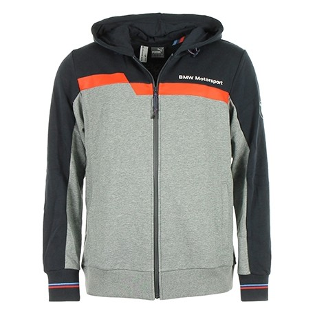 Sweat veste à capuche BMW taille XL Motorsport zippé bleu marine et gris